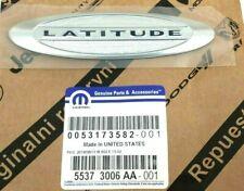 2010-2017 Jeep Compass Patriot Latitude liftgate chrome Nameplate Emblem Badge
