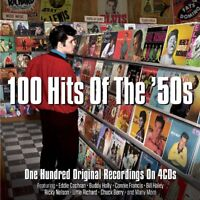 100 HITS OF THE '50S  4 CD NEW! THE COASTERS/ELVIS PRESLEY/LITTLE RICHARD/+
