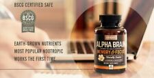 Onnit Alpha BRAIN, MEMORY & FOCUS - 90 capsules NEW Sealed Cognitive Supplement*
