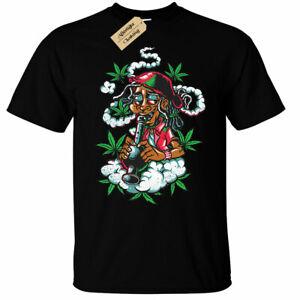 Jamaican Mens T-Shirt rasta weed high smoke bong gift