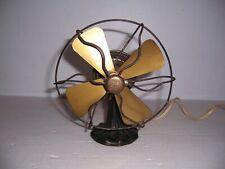 "Antique Polar Cub Type G  6"" Brass Blade Electric Fan"
