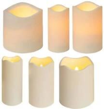 LED Kerze Kunststoff div. Größen Innen u. Außen für Laternen 8/16h Timer Sensor