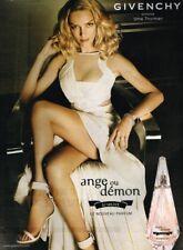 E- Publicité Advertising 2009 Parfum Givenchy Ange ou Demon avec Uma Thurman