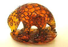 Vintage Japanese  amber netsuke - Ant Eater/Armadillo/Pangolin ,signed
