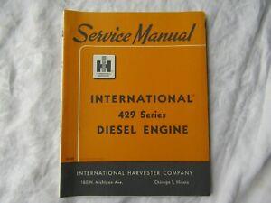 1964 IH International Harvester 429 diesel engine shop service manual excellent