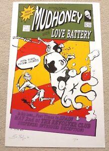 Mudhoney  1995 ARTIST SIGNED SPANISH MUSIC POSTER / PRINT Les Seifer