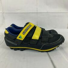 Vintage 1990s Shimano Size 40 SH-M110 Clipless Cycling Shoes Retro Black Yellow