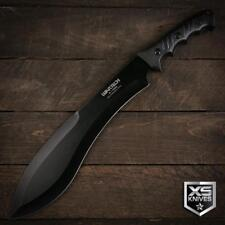 "18"" Black COMBAT Kukri HUGE Machete FULL TANG Hunting Knife Bush Craft 440 Steel"
