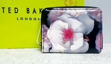Ted Baker MALINA black Chelsea Floral leather mini purse