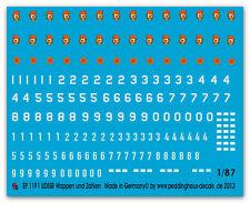 Peddinghaus  1/87 1191 UDSSR Zeichen Nummern und taktische Zeichen