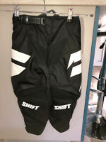 pantalon motocross noir SHIFT youth whit3 taille 6/7 ans (Y22 US) valeur 80€