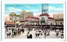 1931 Beach Scene at Kentucky Avenue, Atlantic City, NJ Postcard