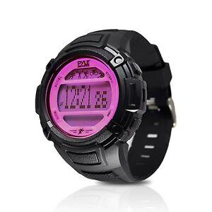 NEW Pyle PAST44PN Unisex Digital Multifunction Sports Watch Steps/Calories PINK
