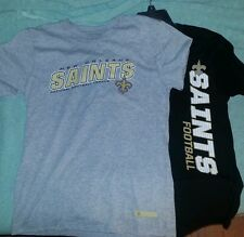 2 anytime New orleans saints youth L 14/16 Shirts NWT NFL team apparel see pic