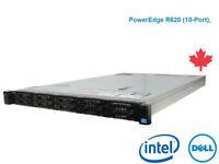 Dell R620 10 Bay 2x E5-2660 2.2 GHz 16 Core 192GB RAM 2x600G H710 iDrac 7 2x750w