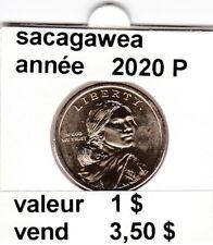 pièces de 1 $  sacagawea  2020 P
