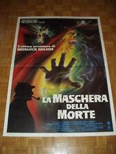 La maschera della morte (Baxter). Manifesto originale (1984) Cm. 100x140 Nuovo