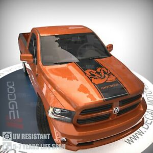 Fits Dodge Ram Muscle Hood Decal Vinyl Racing 3M Stripe 1500 2500 2019 Sticker