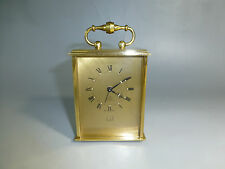 """RARE Vintage Swiss """"DUNHILL""""  8 Day Carriage Alarm Clock 15 Jewels (Watch Video)"""