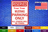 "Mustang Your Year Parking Only 8""x12"" American White Aluminum Sign Novelty Buy !"