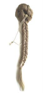 Haarteil geflochten Zopf Pferdeschwanz  Clips ca 50cm lang Neu
