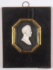 """""""English glass paste bas-relief of Tsar Alexander I"""", miniature, ca. 1815"""