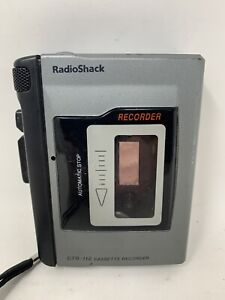 Vintage Radio Shack CTR-112 Handheld Voice Cassette Tape Recorder Tested