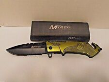Knife. Mtech, Mt-781Gn Army Tactical Rescue Folder, Pocket Knife Green