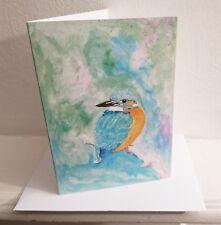 Kingfisher Original Greeting Card Water colour print