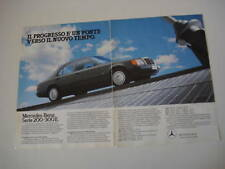 advertising Pubblicità 1986 MERCEDES 200-300 E