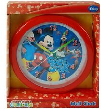 "Disney Mickey Mouse 10"" Quartz Wall Mount Clock Children Room Decor Gifts"