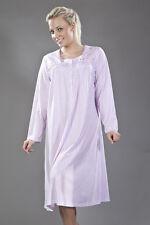 Ladies striped print Long Sleeve round neck Nightdress sizes  10 to 24 (1493)