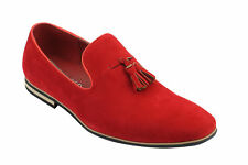 Mens Faux Leather Slip on Suede Loafers Driving Shoes Tassel Design UK Size 6 12