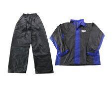 New LARGE Blue/Black Motorcycle Rain Suit Gear