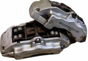 genuine porsche cayenne Front brake calipers complete SILVER L R 2004-10 18Z