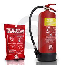 6 LITRE FOAM (AFFF) FIRE EXTINGUISHER WITH BLANKET - (6L/6LTR) Bsi KITEMARKED