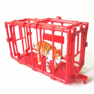 11CM Plastic Animal Fence Four Sides Disassembled Cage model Accessories S&KN