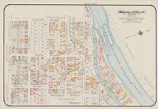1913, CHARLES E. GOAD, MONTREAL, CANADA, ST. PAUL WARD & LOCKS, COPY ATLAS MAP