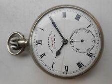Leuba German Silver Pocket Watch Antique Vintage Collectible Swiss Zenith Favre