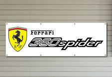 FERRARI CAR LOGO 360 SPIDER PVC Workshop Garage banner waterproof SIGN 006
