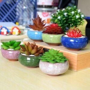 Miniature Flower Bonsai Pot Mini Succulent Planter Glazed Ceramic Garden Decor
