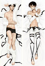 "NEW Otaku "" Anime Attack On titan Levi Dakimakura Pillow Case Cover Hugging Body"