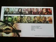 2018 Game Of Thrones Set Of 10 Character Stamps - FDC- stamped belfast