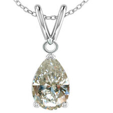 1.14ct VVS1;=NEXT TO WHITE PEAR CUT MOISANITE DIAMOND.925 SILVER PENDANT