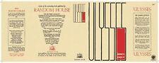 Facsimile Dust Jacket ONLY James Joyce Ulysses 1st American Edition 1934