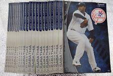 "21 Fathead CC Sabathia New York Yankees Decal MLB Team Logo 7"" Tradable Baseball"