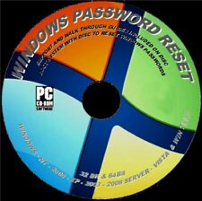 WINDOWS LOST/FORGOTTEN PASSWORD SIMPLE RESET CD WIN XP VISTA 7 8 10 INSTRUCTIONS