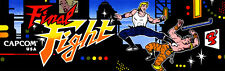 Capcom Final Fight Arcade Marquee For Reproduction Header/Backlit Sign