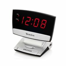 "Westclox 71014X 0.9"" LED Plasma Screen Alarm Clock With USB Charging Port"
