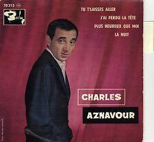 CHARLES AZNAVOUR TU T'LAISSES ALLER FRENCH ORIG EP PAUL MAURIAT